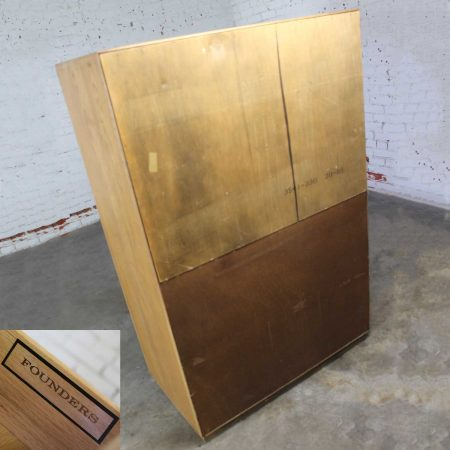 Vintage Campaign Style Gentlemen's Chest by Founders Furniture in Oak
