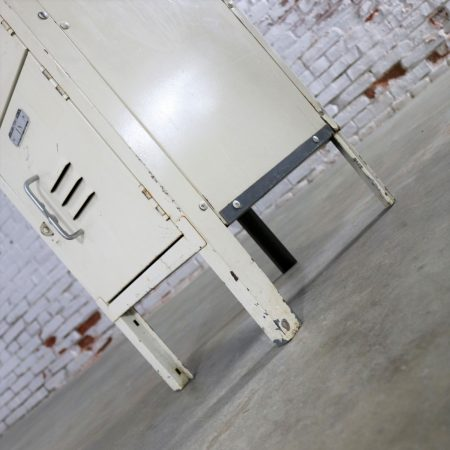 Single Stack Industrial Gym Locker Cubby Style Vintage Distressed Painted