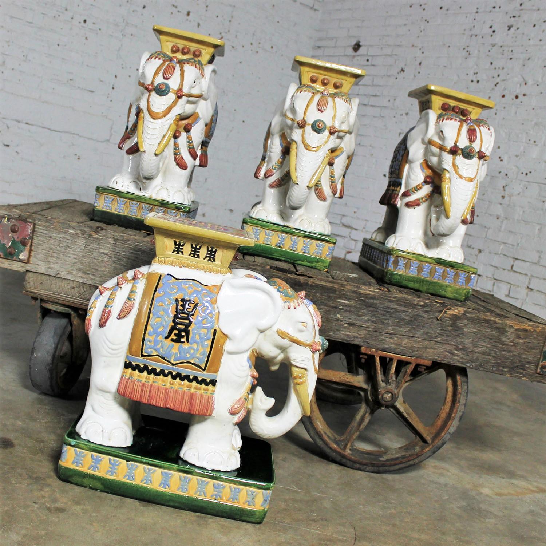 Marvelous Elephant Garden Stools Side End Tables Stands Vintage Made Spiritservingveterans Wood Chair Design Ideas Spiritservingveteransorg