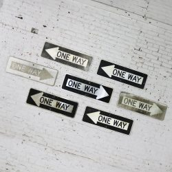 Seven Vintage Metal One Way Arrow Signs