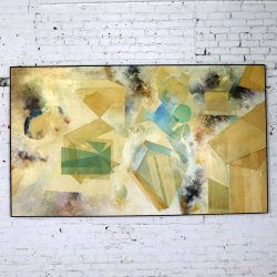 Monumental Mixed Media Abstract 2D Art Piece by Richard Slimon Circa 1960s