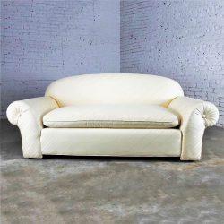 Vintage Donghia Sofa in Original White Vice Versa Fabric