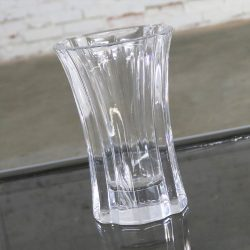 Orrefors Eight Inch Crystal Vase by Lars Hellsten Signed and Numbered LH 4599-22