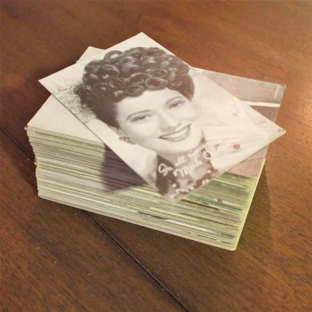 Collection of 95 Vintage Movie Star Penny Arcade Trading Cards