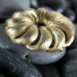 Vintage Crown Trifari Gold-tone Pinwheel Brooch