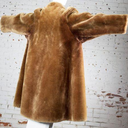 Vintage 1950s Mouton Fur Swing Style Coat