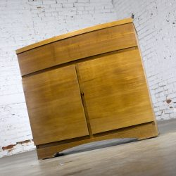 Vintage Mid-Century Modern Mahogany Small Chest Type Server Cabinet