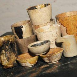Antique Colorado Mining Ceramic Crucibles