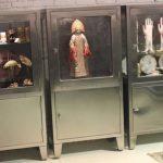 Vintage Petite Stainless Steel Industrial or Medical Display Storage Cabinet