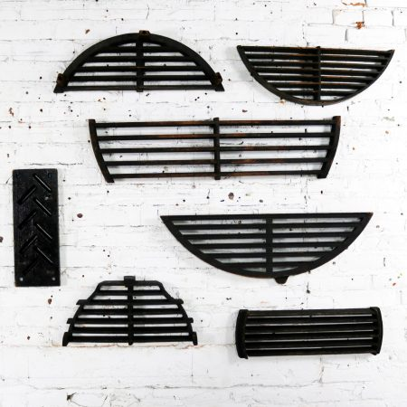 Antique Industrial Foundry Patterns for Molds Handmade Wood Set of Seven – Group 2