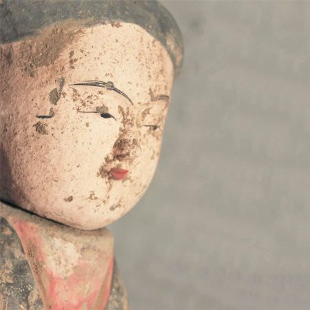 Early 20th Century Han Style Female Tomb or Funerary Pottery Figure