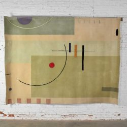 Vintage Modernist Wool Rug by Meinecke Collection Exclusively for Herman Miller, 8×11
