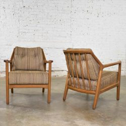 Pair of Ash Group Spindle Back Chairs by Jack Van Der Molen for Jamestown Lounge Co.