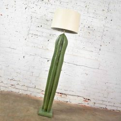 Vintage Organic Modern Plaster Faux Cactus Floor Lamp by Alsy