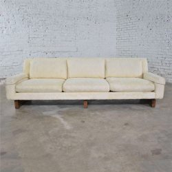 Vintage Mid Century Modern Lawson Style White Sofa by Flair Division for Bernhardt