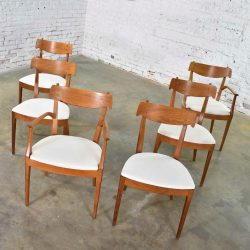 Drexel Declaration Walnut Dining Chairs by Kipp Stewart and Stewart MacDougall Set 6