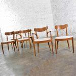 Drexel Declaration Walnut Dining Chairs by Kipp Stewart and Stewart MacDougall Set 6