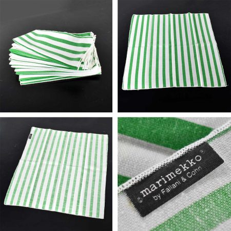 Heller Dinnerware by Lella and Massimo Vignelli in Kelly Green 58 Pieces Plus Napkins