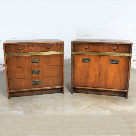 Hickory Manufacturing Co. Campaign Style Chests a Vintage Pair