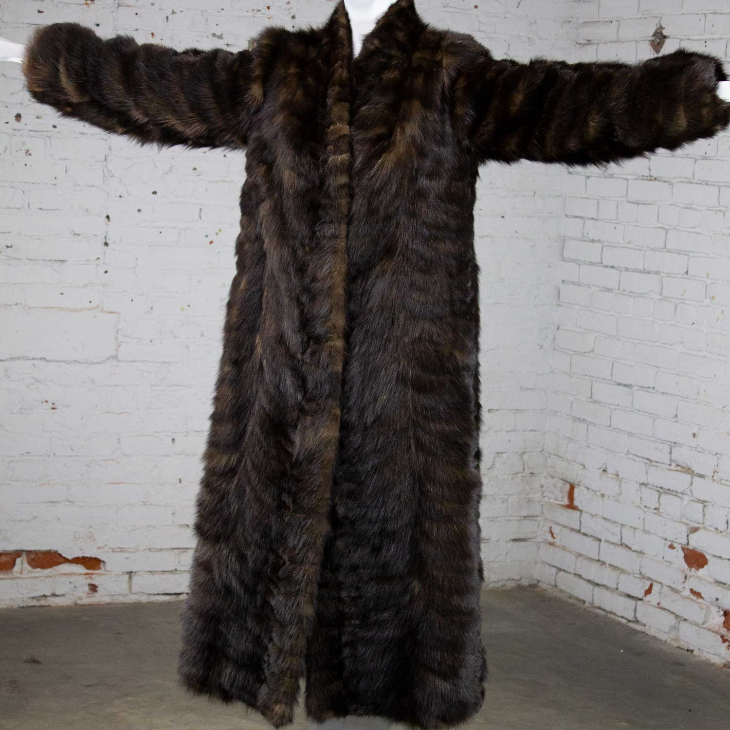 Vintage Full Length Mink Coat Circa, How Much Did A Mink Coat Cost In 1980