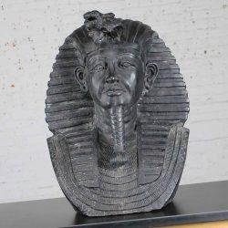 Monumental Bronze Egyptian Sphinx Pharaoh Head Garden Statue