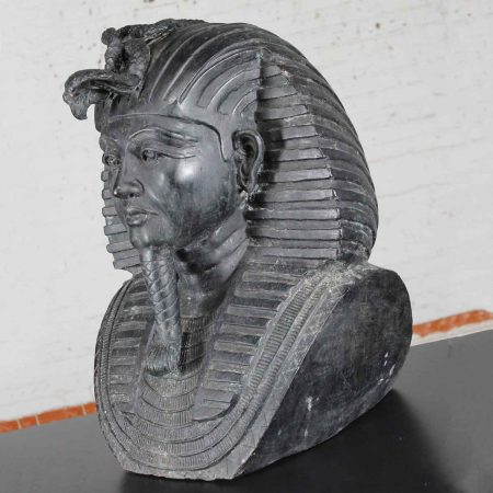 Monumental Bronze Egyptian Sphinx Pharaoh Head Garden Statue