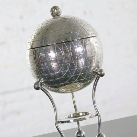 Latham & Morton Silver Plate Egg Warmer Globe Orb Shape Victorian