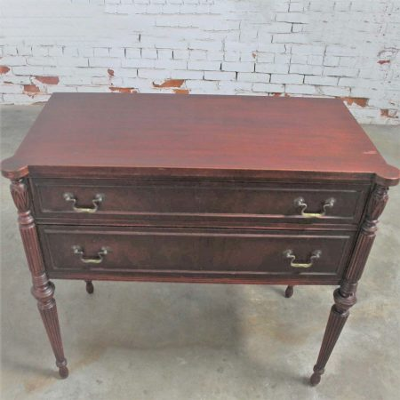 Classic Sheraton Federal Style Mahogany Server in the manor of Salem Cabinetmakers