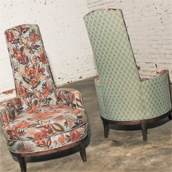 Adrian Pearsall Style High Back Chairs Mid Century Modern