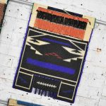 Vintage Set of 4 Ndebele Mapoto Beaded Aprons from South Africa Canvas Backed