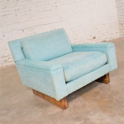 Vintage Mid Century Modern Club Lounge Chair by Flair Division for Bernhardt