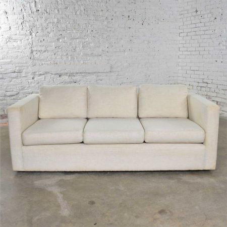 White Modern Tuxedo Style Sofa by Milo Baughman for Thayer Coggin