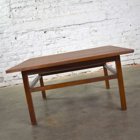 Mid Century Modern Square Walnut Cocktail Coffee End or Side Table Style Founders