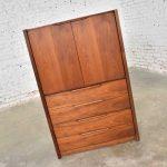 Gentlemen's Chest Scandinavian Modern Style in Walnut by Barzilay Furniture Mfg.
