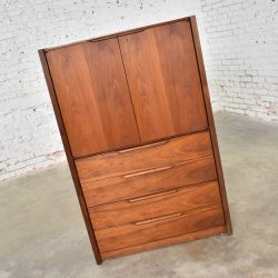 Gentlemen's Chest Scandinavian Modern Style in Walnut by Barzilay Furniture Mfg.