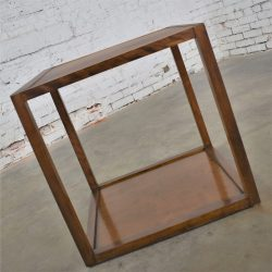 Small Mid Century Modern Cube Like Side End or Occasional Table
