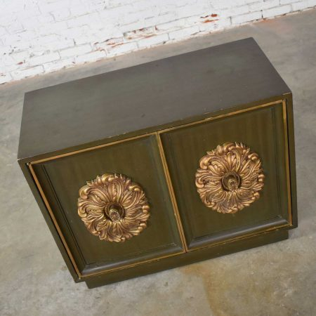 Mid Century Hollywood Regency Lane Small 2 Door Credenza Style J Mont or D Draper