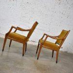 MCM Grand HOLD-Haven Chairs in Gold Velvet by Jack Van Der Molen for Jamestown Lounge