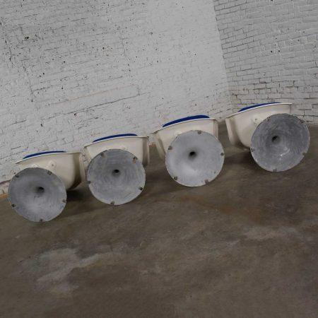 4 Tulip Style White Fiberglass Swivel Armchairs by Arthur Umanoff for Contemporary Shells