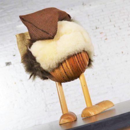 Vintage Scandinavian Large Gonk Troll Tomte Gnome Figure Style of Hans Bolling
