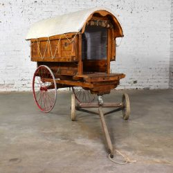Vintage Largescale Model Covered Wagon or Prairie Schooner Pony or Goat Cart