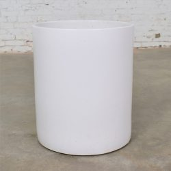 Vintage Mid Century Modern Architectural Pottery Monumental White Cylindrical Pot