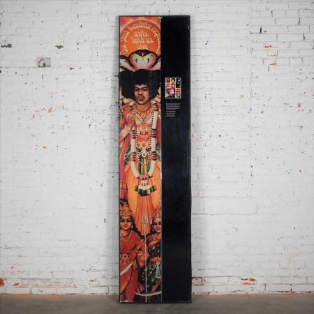 Large Framed Jimi Hendrix Panel Attributed to Jimi Hendrix Traveling Exhibit