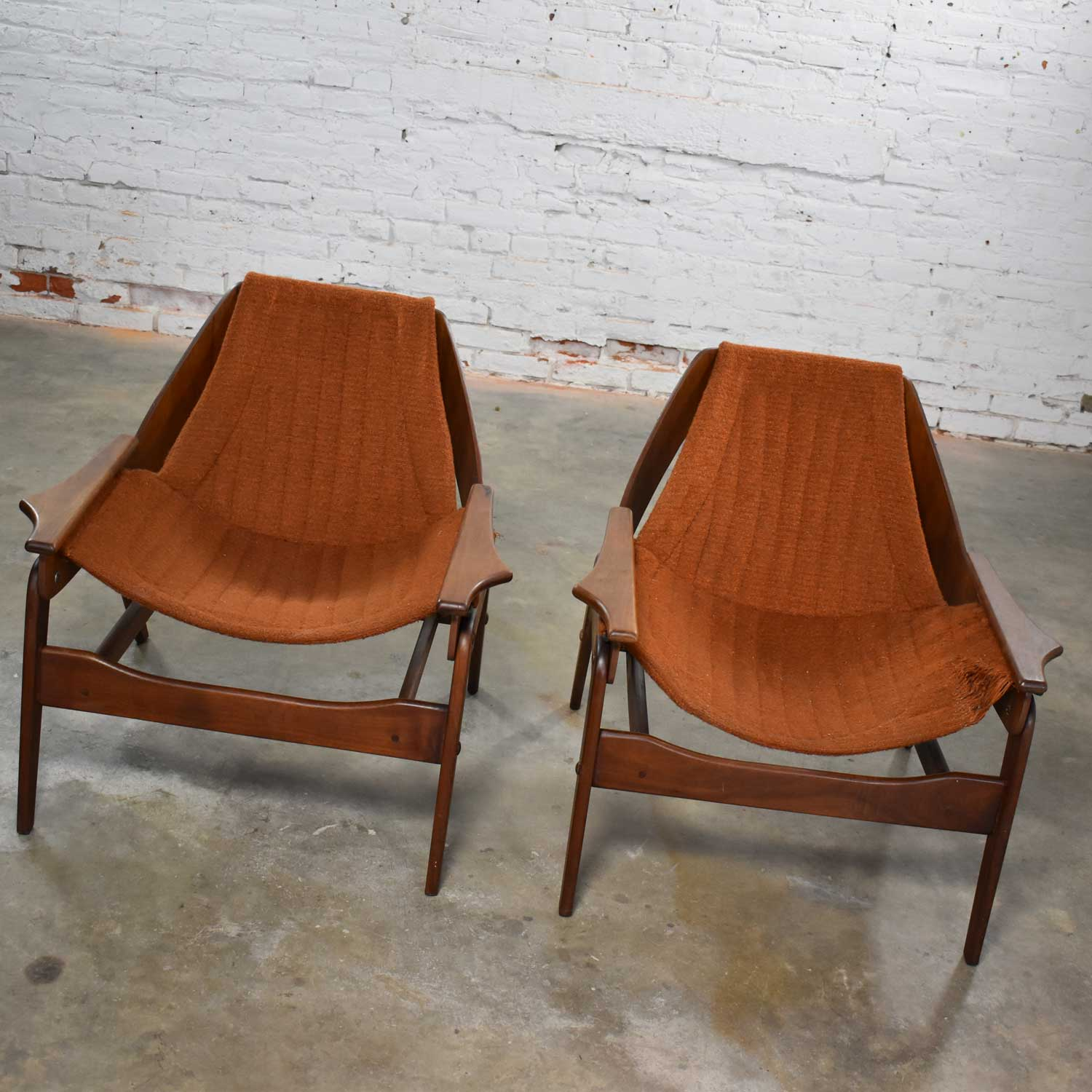 Mid Century Modern Triumph I Sling Chairs By Jerry Johnson