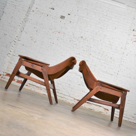 Mid Century Modern Triumph I Sling Chairs by Jerry Johnson for Charlton a Pair