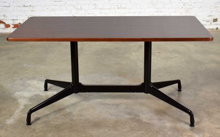 Eames Herman Miller Aluminum Group Conference or Dining Table Rosewood & Black