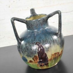 Art Nouveau Flemish Earthenware Three Handled Vase by Leo Maes Vereenooghe