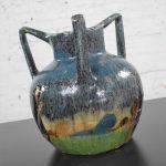 Art Nouveau Flemish Earthenware Three Handled Vase by Leo Maes Vereenooghe