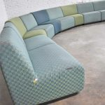 August Inc Modern Modular Sectional Sofa Straight & Wedge Pieces Style of Chadwick