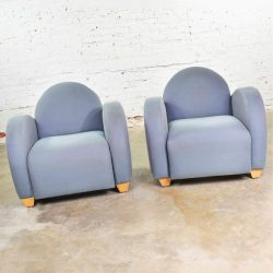 Michael Graves Postmodern Club or Lounge Chairs by David Edward Company 21 Avail